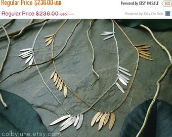 Valentines Day Sale Silver Multi-Leaf Necklace | Sterling Silver Necklace