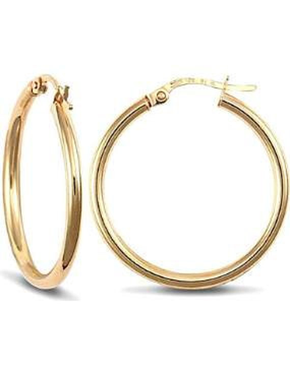 25mm 9ct Gold Hoop Earrings