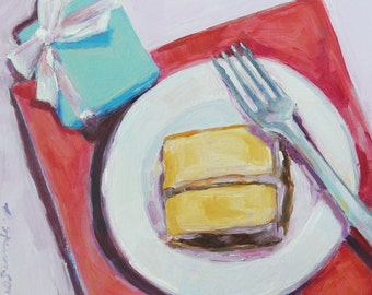 Tiffany And Cake Oil Painting Home Decor