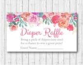 Pink Floral Diaper Raffle...