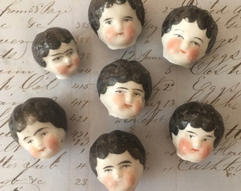 Vintage Frozen Charlotte Doll Head - From Germany -Doll Parts