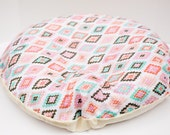 NEWBORN LOUNGER BOPPY Cover / Zipper closure/ Modern cotton  print with soft Flat minky / Great neutral gender gift