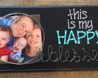 Personalized Canvas Wire Picture Frame