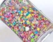 Celebrate Joy! glitter nail polish top coat