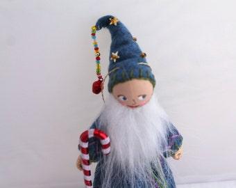 Happy New Year - Felt Art Doll - Holiday Decoration - New Year Felt Ornament