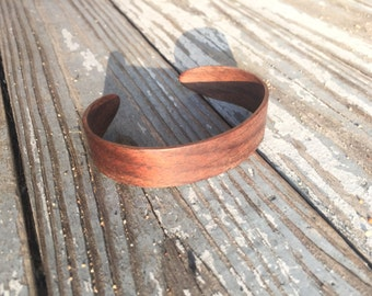 Walnut Cuff Bracelet - Narrow