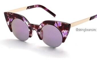 Women's Cateye Purple Royalty Fashion Eyewear