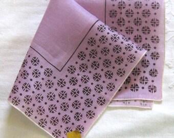 designer Hankie by Kimball  .  designer hankie . Kimball hankie . purple hankie . Kimball. flower hankie