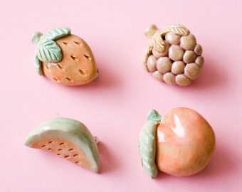 Ceramic Fruit Brooch