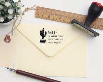 Custom Address Stamp - Return Address Stamp - Cactus