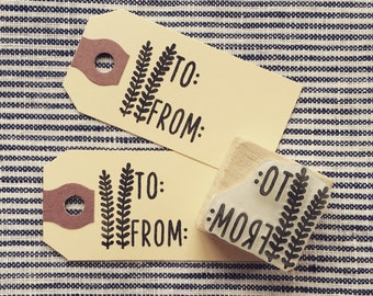 Rubber Stamp - To & From