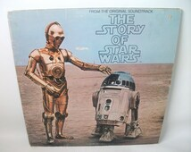Vintage Star Wars The Story of Star Wars Record Album from the Original Soundtrack 1977