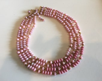 1940's Pink Western Germany Necklace
