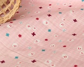 4146 -  Japanese Rabbit Windmill Cotton & Waterproof Fabric - 43 Inch (Width) x 17 Inch (Length)