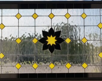 "Stained Glass Window - ""Black & Yellow"" (W-101)"