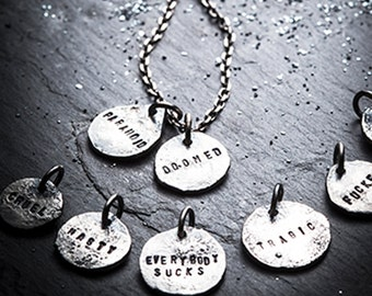 BAD MOODS mix and match charm necklace