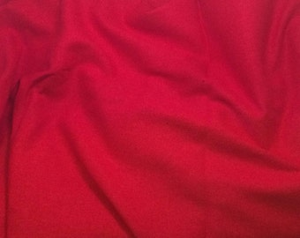 100% LINEN Fabric - SCARLET RED - 1 Yard
