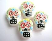 """sugar skull 4 3/4""""  buttons"""