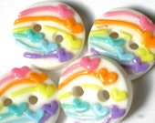 "rainbow hearts 4 3/4"" buttons"