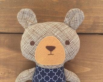 Simon the handmade brown bear
