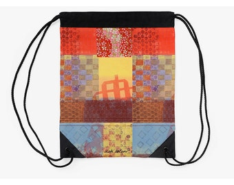 Cinch Bag,Drawstring Back Pack,Supplies for Back to School,Holiday Gifts for Students,Tribal School Bag,Off to College Gifts,Festival Bag