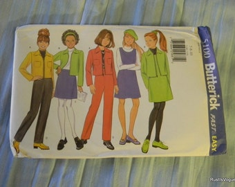 Butterick Girl's Jacket, Jumper, Skirt and Pants Pattern #5100 Sizes 7 thru 10
