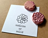 Miniature Succulent - Hand Carved Rubber Stamp