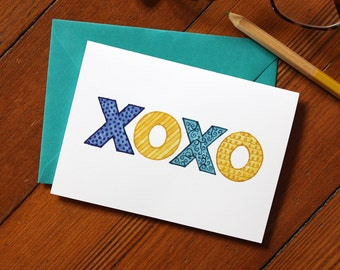 XOXO Blank Note Card 10-Pack