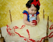 SNOW WHITE costume dress girls princess  costume dress TUTU dress style princess costume