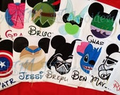 5+ Custom Disney Vacation ADULT or KIDS Unisex Shirts with Character & Name ONLY  (6 weeks until shipped)