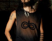 Post Apocalyptic Destroyed Men's Infinity Snake Shirt Tank