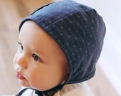 Heirloom Collection Handmade Baby Bonnet in NAVY, infant, gift, newborn, toddler