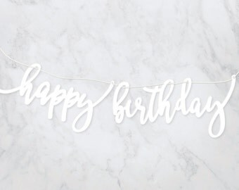 "Acrylic ""Happy Birthday"" calligraphy Banner"