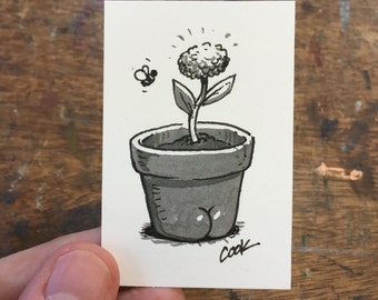 Flower with a BUTT mini illustration