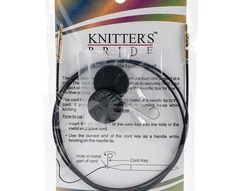 40 Inch Knitters Pride Interchangeable Circular Knitting Needle Cables Black Single Pack 100cm