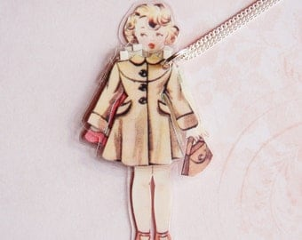 Paper Doll - Handmade Necklace - Bethany #1