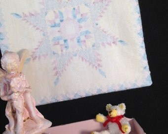 Tiny Miniature quilt country dollhouse scale