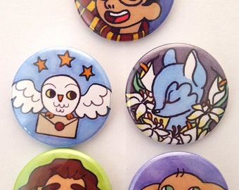 Boy Wizard Pin Set