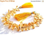 55% OFF SALE 1/2 Strand - High Quality Genuine Citrine Faceted Marquise shaped Cut Stone Briolettes Size 12x6mm approx