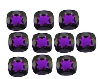 55% OFF SALE 10Pcs Amethyst Hydro Cut Cushion 12x12mm approx 10Pcs 5 Matched Pair
