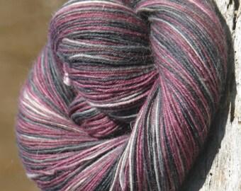 Handpainted Kid Sock Yarn - 20/55/25% Kid Mohair / Superwash Merino Wool / Nylon - Vlad