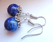 Lapis Earrings, Lapis Lazuli Earrings, Blue Earrings, Dangle Earrings, Stone Earrings