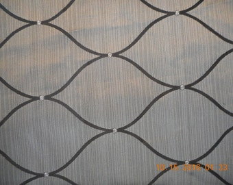 Shimmery Silver Grey and Black Fabric - 3 yards  * use 1002 1003