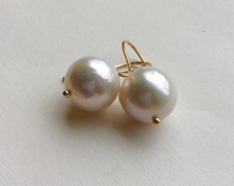 14kt. Gold And Pearl Earrings