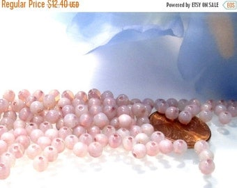 50% Off 200 pcs 4mm Milky Lumi Pink Luster Smooth Round Czech Glass beads, Druk /0100/15495/4 GB 607