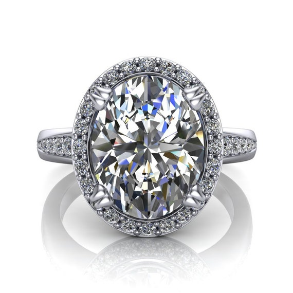 3 Carat Oval Diamond Ring with Halo