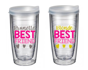 Brunette Best Friend, Blonde Best Friend Tumbler Set 16 oz