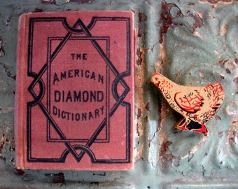 Vintage 1878 American Diamond Dictionary, 700 Pages, Miniature