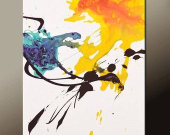 Abstract Art  Painting 18x24 Canvas Contemporary Art Paintings by Destiny Womack - dWo - Random Acts V