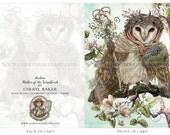 Greeting Card - Owl Card - Barn Owl Card - Greeting Card Set - Woodland Greeting Card - Whimsical Card- Just Because Card